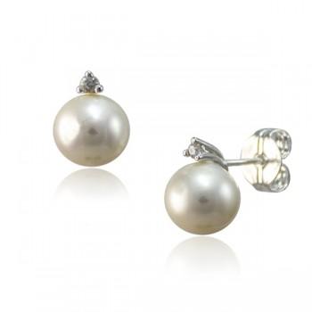 Pendientes de Perla con Circonita