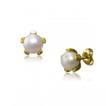 Pendientes Perla Natural 5 Garras