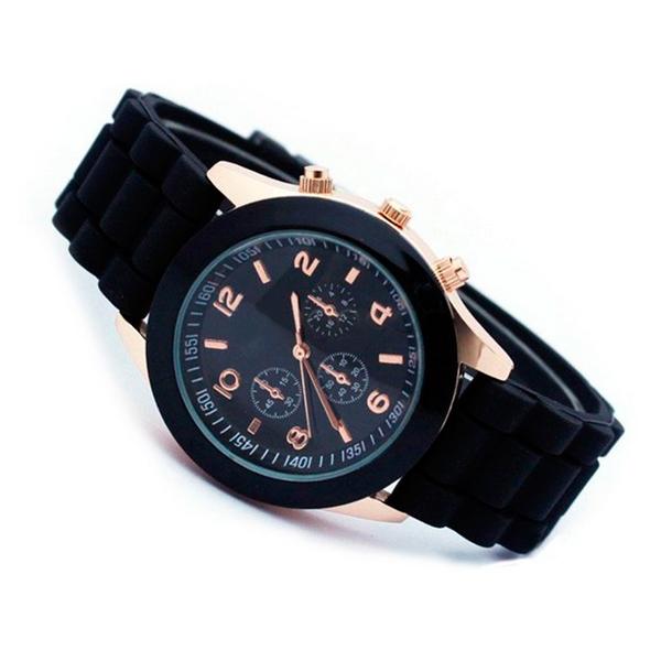 d9bf7f92bd1a Reloj unisex con bisel rosé y correa de silicona disponible en colores